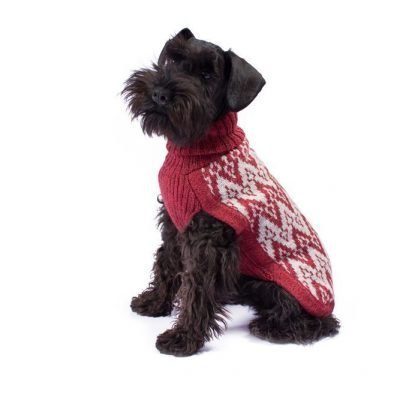 Andean Peaks Red alpaca dog sweater