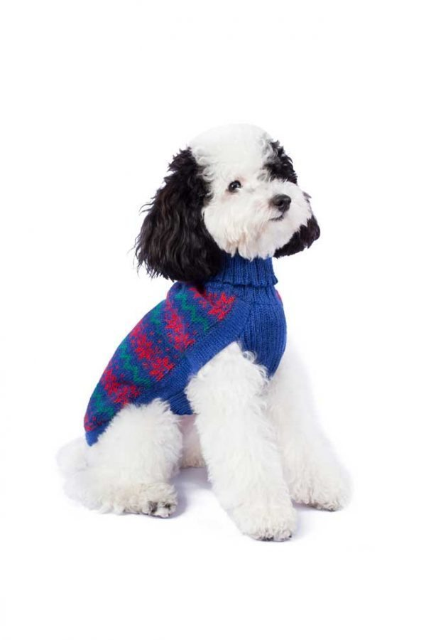 """<em><strong>We combine textile heritage and global trends with alpaca—a raw, sustainable, and luxurious fiber—to make our designs unique.</strong></em> Ho, Ho, Ho!It is Christmas time! Make their holiday magical with this cute and sublimely soft alpaca knit. As if from a Christmas tale, your little man will be the perfect host for everyone you hold near and dear! - Features ribbed turtleneck, leash opening - Model Mona is a Miniature Poodle size XS - This garment has been designed thinking on the well being of your pet. [fusion_button link=""""https://alqowasi.com/wp-content/uploads/2021/03/Sizing-guide-sweater-dresses.png"""" text_transform=""""none"""" title="""""""" target=""""lightbox"""" link_attributes="""""""" alignment_medium="""""""" alignment_small="""""""" alignment="""""""" modal="""""""" hide_on_mobile=""""small-visibility,medium-visibility,large-visibility"""" sticky_display=""""normal,sticky"""" class=""""button-chart"""" id="""""""" color=""""default"""" button_gradient_top_color="""""""" button_gradient_bottom_color="""""""" button_gradient_top_color_hover="""""""" button_gradient_bottom_color_hover="""""""" accent_color="""""""" accent_hover_color="""""""" type="""""""" bevel_color="""""""" border_width="""""""" border_radius="""""""" border_color="""""""" border_hover_color="""""""" size=""""small"""" stretch=""""default"""" margin_top="""""""" margin_right="""""""" margin_bottom="""""""" margin_left="""""""" icon=""""fa-ruler fas"""" icon_position=""""left"""" icon_divider=""""no"""" animation_type="""""""" animation_direction=""""left"""" animation_speed=""""0.3"""" animation_offset=""""""""]Sizing Chart[/fusion_button]"""