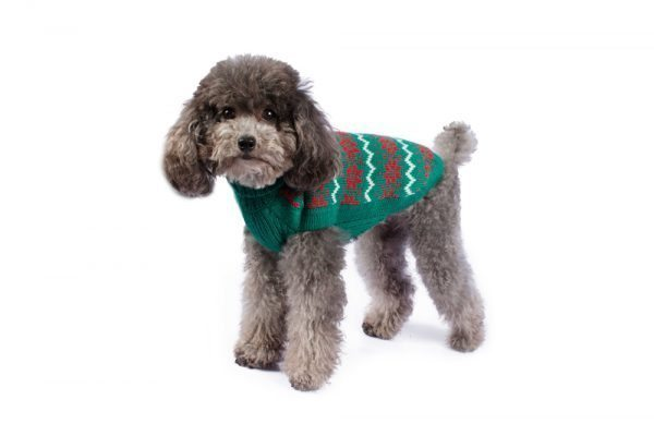 """<em><strong>We combine textile heritage and global trends with alpaca—a raw, sustainable, and luxurious fiber—to make our designs unique.</strong></em> Ho, Ho, Ho! Make their holiday magical with this cute and sublimely soft alpaca knit. As if from a Christmas tale, your little man will be the perfect host for everyone you hold near and dear! - Features ribbed turtleneck, leash opening - Model Dolores is a Miniature Poodle size XS - This garment has been designed thinking on the well being of your pet. [fusion_button link=""""https://alqowasi.com/wp-content/uploads/2021/03/Sizing-guide-sweater-dresses.png"""" text_transform=""""none"""" title="""""""" target=""""lightbox"""" link_attributes="""""""" alignment_medium="""""""" alignment_small="""""""" alignment="""""""" modal="""""""" hide_on_mobile=""""small-visibility,medium-visibility,large-visibility"""" sticky_display=""""normal,sticky"""" class=""""button-chart"""" id="""""""" color=""""default"""" button_gradient_top_color="""""""" button_gradient_bottom_color="""""""" button_gradient_top_color_hover="""""""" button_gradient_bottom_color_hover="""""""" accent_color="""""""" accent_hover_color="""""""" type="""""""" bevel_color="""""""" border_width="""""""" border_radius="""""""" border_color="""""""" border_hover_color="""""""" size=""""small"""" stretch=""""default"""" margin_top="""""""" margin_right="""""""" margin_bottom="""""""" margin_left="""""""" icon=""""fa-ruler fas"""" icon_position=""""left"""" icon_divider=""""no"""" animation_type="""""""" animation_direction=""""left"""" animation_speed=""""0.3"""" animation_offset=""""""""]Sizing Chart[/fusion_button]"""