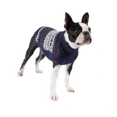 Fall Medley Blue Alpaca Dog Sweater