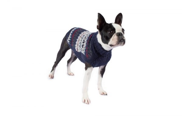 """<em><strong>We combine textile heritage and global trends with alpaca—a raw, sustainable, and luxurious fiber—to make our designs unique.</strong></em> Lightweight and superbly soft, this dashing knit sweater is handloomed in alpaca blend yarns. You'll love walking through the park with your dapper dog. Features ribbed turtleneck, leash opening - Model Cala is a small female Boston terrier size XS - Model Paco is a Westie size M - Model Gloria is a Mini Dachshund size XS This garment has been designed thinking on the well being of your pet. [fusion_button link=""""https://alqowasi.com/wp-content/uploads/2021/03/Sizing-guide-sweater-dresses.png"""" text_transform=""""none"""" title="""""""" target=""""lightbox"""" link_attributes="""""""" alignment_medium="""""""" alignment_small="""""""" alignment="""""""" modal="""""""" hide_on_mobile=""""small-visibility,medium-visibility,large-visibility"""" sticky_display=""""normal,sticky"""" class=""""button-chart"""" id="""""""" color=""""default"""" button_gradient_top_color="""""""" button_gradient_bottom_color="""""""" button_gradient_top_color_hover="""""""" button_gradient_bottom_color_hover="""""""" accent_color="""""""" accent_hover_color="""""""" type="""""""" bevel_color="""""""" border_width="""""""" border_radius="""""""" border_color="""""""" border_hover_color="""""""" size=""""small"""" stretch=""""default"""" margin_top="""""""" margin_right="""""""" margin_bottom="""""""" margin_left="""""""" icon=""""fa-ruler fas"""" icon_position=""""left"""" icon_divider=""""no"""" animation_type="""""""" animation_direction=""""left"""" animation_speed=""""0.3"""" animation_offset=""""""""]Sizing Chart[/fusion_button]"""