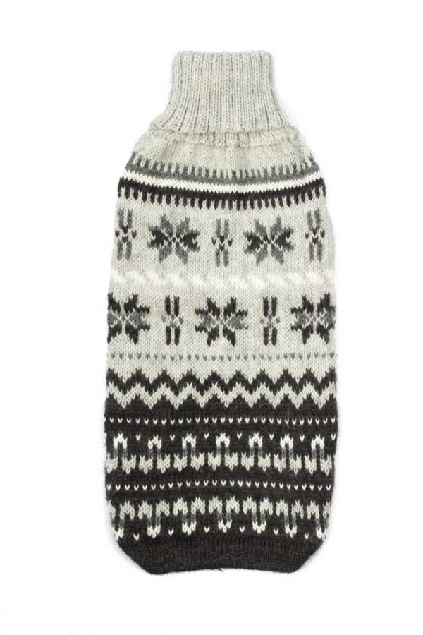 """<span style=""""font-weight: 400;"""">If ever there was a time to wrap up cozy and in style, it's now! Our Nordic Dreams alpaca dog sweater is the perfect piece to keep your dog comfy and warm while looking adorable all winter long.</span> <ul> <li aria-level=""""1"""">Handcrafted from alpaca fiber blends</li> <li style=""""font-weight: 400;"""" aria-level=""""1""""><span style=""""font-weight: 400;"""">Soft</span><span style=""""font-weight: 400;""""> and warm to the touch</span></li> <li style=""""font-weight: 400;"""" aria-level=""""1""""><span style=""""font-weight: 400;"""">Not itchy & hypoallergenic</span></li> <li><span style=""""font-weight: 400;"""">Leash opening</span></li> </ul> - Model Sam is a Wirehaired Dachshund size S This garment has been designed thinking on the well-being of your pet. <strong>Limited Stock!</strong> [fusion_button link=""""https://alqowasi.com/wp-content/uploads/2021/03/Sizing-guide-sweater-dresses.png"""" text_transform=""""none"""" title="""""""" target=""""lightbox"""" link_attributes="""""""" alignment_medium="""""""" alignment_small="""""""" alignment="""""""" modal="""""""" hide_on_mobile=""""small-visibility,medium-visibility,large-visibility"""" sticky_display=""""normal,sticky"""" class=""""button-chart"""" id="""""""" color=""""default"""" button_gradient_top_color="""""""" button_gradient_bottom_color="""""""" button_gradient_top_color_hover="""""""" button_gradient_bottom_color_hover="""""""" accent_color="""""""" accent_hover_color="""""""" type="""""""" bevel_color="""""""" border_width="""""""" border_radius="""""""" border_color="""""""" border_hover_color="""""""" size=""""small"""" stretch=""""default"""" margin_top="""""""" margin_right="""""""" margin_bottom="""""""" margin_left="""""""" icon=""""fa-ruler fas"""" icon_position=""""left"""" icon_divider=""""no"""" animation_type="""""""" animation_direction=""""left"""" animation_speed=""""0.3"""" animation_offset=""""""""]Sizing Chart[/fusion_button]"""