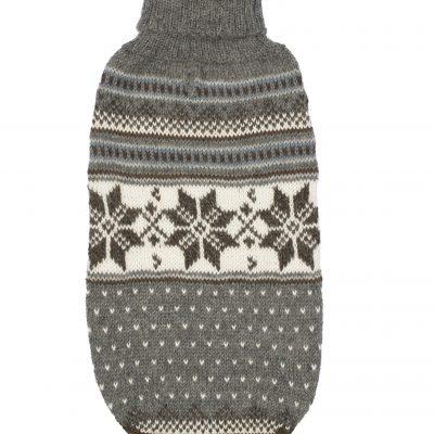 Mystic Snowflake alpaca dog sweater
