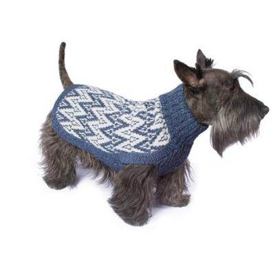 Andean Peaks Blue alpaca dog sweater