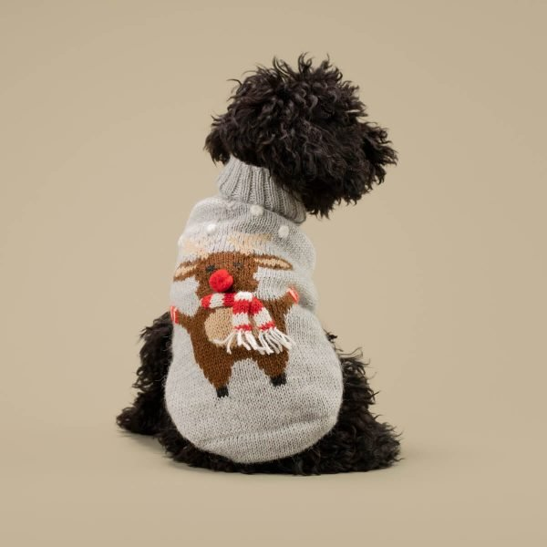 """Are you ready for a Moosy Christmas? Make your Holiday magical with this sweet and funny soft Alpaca knit. <ul> <li aria-level=""""1"""">Handcrafted from alpaca fiber blends</li> <li style=""""font-weight: 400;"""" aria-level=""""1""""><span style=""""font-weight: 400;"""">Soft</span><span style=""""font-weight: 400;""""> and warm to the touch</span></li> <li style=""""font-weight: 400;"""" aria-level=""""1""""><span style=""""font-weight: 400;"""">Not itchy & hypoallergenic</span></li> <li><span style=""""font-weight: 400;"""">Leash opening</span></li> </ul> - Model Yana is a Toy Poodle size XXS This garment has been designed thinking on the well-being of your pet. [fusion_button link=""""https://alqowasi.com/wp-content/uploads/2021/03/Sizing-guide-sweater-dresses.png"""" text_transform=""""none"""" title="""""""" target=""""lightbox"""" link_attributes="""""""" alignment_medium="""""""" alignment_small="""""""" alignment="""""""" modal="""""""" hide_on_mobile=""""small-visibility,medium-visibility,large-visibility"""" sticky_display=""""normal,sticky"""" class=""""button-chart"""" id="""""""" color=""""default"""" button_gradient_top_color="""""""" button_gradient_bottom_color="""""""" button_gradient_top_color_hover="""""""" button_gradient_bottom_color_hover="""""""" accent_color="""""""" accent_hover_color="""""""" type="""""""" bevel_color="""""""" border_width="""""""" border_radius="""""""" border_color="""""""" border_hover_color="""""""" size=""""small"""" stretch=""""default"""" margin_top="""""""" margin_right="""""""" margin_bottom="""""""" margin_left="""""""" icon=""""fa-ruler fas"""" icon_position=""""left"""" icon_divider=""""no"""" animation_type="""""""" animation_direction=""""left"""" animation_speed=""""0.3"""" animation_offset=""""""""]Sizing Chart[/fusion_button]"""