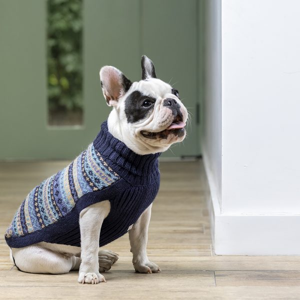 Après Ski Blue alpaca dog sweater