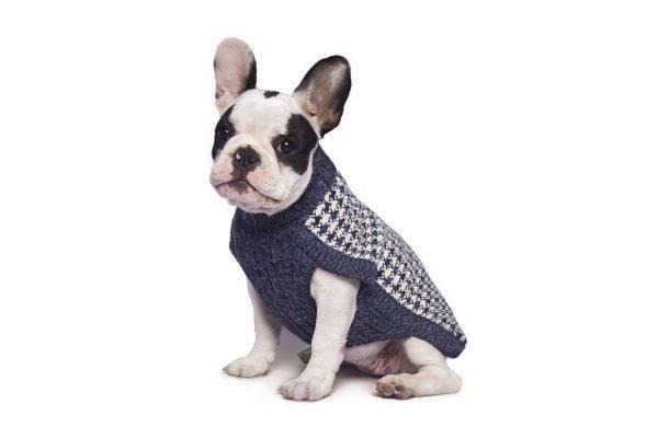Smocked Blue alpaca dog sweater