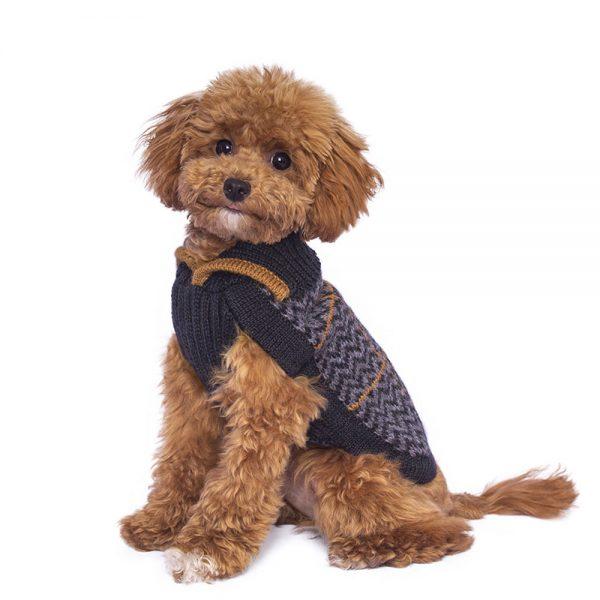 Preppy Blue alpaca dog sweater