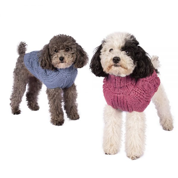 """Soft as a cloud in fluffy alpaca. This luxurious cable knit is the ultimate timeless staple for any dog's wardrobe. <ul> <li aria-level=""""1"""">Handcrafted from alpaca fiber blends</li> <li style=""""font-weight: 400;"""" aria-level=""""1""""><span style=""""font-weight: 400;"""">Soft</span><span style=""""font-weight: 400;""""> and warm to the touch</span></li> <li style=""""font-weight: 400;"""" aria-level=""""1""""><span style=""""font-weight: 400;"""">Not itchy & hypoallergenic</span></li> <li><span style=""""font-weight: 400;"""">Leash opening</span></li> </ul> - Please note the composition of this item is slightly different from the rest of our collection. - Model Mona is a miniature Poodle XS This garment has been designed thinking on the well being of your pet. [fusion_button link=""""https://alqowasi.com/wp-content/uploads/2021/03/Sizing-guide-sweater-dresses.png"""" text_transform=""""none"""" title="""""""" target=""""lightbox"""" link_attributes="""""""" alignment_medium="""""""" alignment_small="""""""" alignment="""""""" modal="""""""" hide_on_mobile=""""small-visibility,medium-visibility,large-visibility"""" sticky_display=""""normal,sticky"""" class=""""button-chart"""" id="""""""" color=""""default"""" button_gradient_top_color="""""""" button_gradient_bottom_color="""""""" button_gradient_top_color_hover="""""""" button_gradient_bottom_color_hover="""""""" accent_color="""""""" accent_hover_color="""""""" type="""""""" bevel_color="""""""" border_width="""""""" border_radius="""""""" border_color="""""""" border_hover_color="""""""" size=""""small"""" stretch=""""default"""" margin_top="""""""" margin_right="""""""" margin_bottom="""""""" margin_left="""""""" icon=""""fa-ruler fas"""" icon_position=""""left"""" icon_divider=""""no"""" animation_type="""""""" animation_direction=""""left"""" animation_speed=""""0.3"""" animation_offset=""""""""]Sizing Chart[/fusion_button]"""