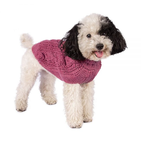 """<span style=""""font-weight: 400;"""">Soft as a cloud in fluffy alpaca. This luxurious cable knit is the ultimate timeless staple for any dog's wardrobe</span>. <ul> <li aria-level=""""1"""">Handcrafted from alpaca fiber blends</li> <li style=""""font-weight: 400;"""" aria-level=""""1""""><span style=""""font-weight: 400;"""">Soft</span><span style=""""font-weight: 400;""""> and warm to the touch</span></li> <li style=""""font-weight: 400;"""" aria-level=""""1""""><span style=""""font-weight: 400;"""">Not itchy & hypoallergenic</span></li> <li><span style=""""font-weight: 400;"""">Leash opening</span></li> </ul> - Model Gloria is a miniature Dachshund XS - Model Mona is a miniature Poodle size XS - Model Dolores is a miniature Poodle size XS This garment has been designed thinking on the well being of your pet. [fusion_button link=""""https://alqowasi.com/wp-content/uploads/2021/03/Sizing-guide-sweater-dresses.png"""" text_transform=""""none"""" title="""""""" target=""""lightbox"""" link_attributes="""""""" alignment_medium="""""""" alignment_small="""""""" alignment="""""""" modal="""""""" hide_on_mobile=""""small-visibility,medium-visibility,large-visibility"""" sticky_display=""""normal,sticky"""" class=""""button-chart"""" id="""""""" color=""""default"""" button_gradient_top_color="""""""" button_gradient_bottom_color="""""""" button_gradient_top_color_hover="""""""" button_gradient_bottom_color_hover="""""""" accent_color="""""""" accent_hover_color="""""""" type="""""""" bevel_color="""""""" border_width="""""""" border_radius="""""""" border_color="""""""" border_hover_color="""""""" size=""""small"""" stretch=""""default"""" margin_top="""""""" margin_right="""""""" margin_bottom="""""""" margin_left="""""""" icon=""""fa-ruler fas"""" icon_position=""""left"""" icon_divider=""""no"""" animation_type="""""""" animation_direction=""""left"""" animation_speed=""""0.3"""" animation_offset=""""""""]Sizing Chart[/fusion_button]"""