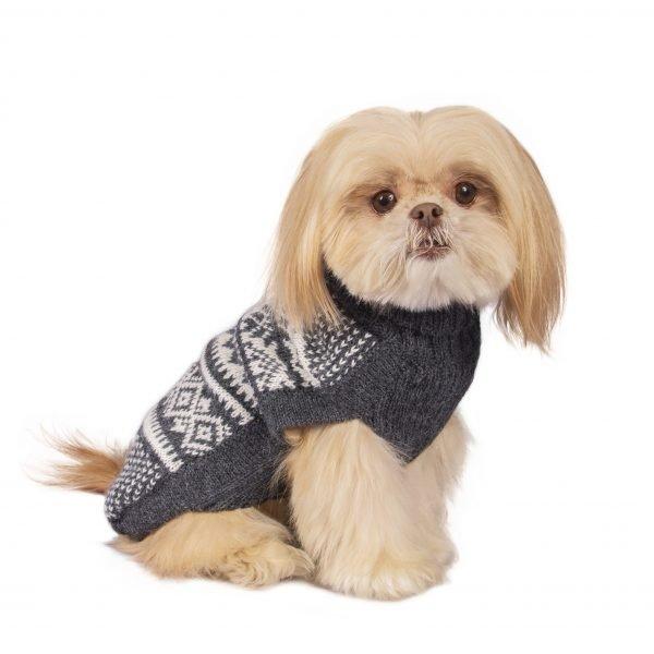 Mountain Grey alpaca dog sweater