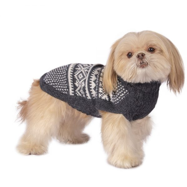 """<span style=""""font-weight: 400;"""">Mountain chic is coming to town! </span><span style=""""font-weight: 400;"""">The forecast calls for cold, and we are ready with a host of warm, wonderful jumper designs to keep the chill far, far away. </span><span style=""""font-weight: 400;"""">Create a cute cold-weather look with this adorable Snowflake sweater.</span> <ul> <li aria-level=""""1"""">Handcrafted from alpaca fiber blends</li> <li style=""""font-weight: 400;"""" aria-level=""""1""""><span style=""""font-weight: 400;"""">Soft</span><span style=""""font-weight: 400;""""> and warm to the touch</span></li> <li style=""""font-weight: 400;"""" aria-level=""""1""""><span style=""""font-weight: 400;"""">Not itchy & hypoallergenic</span></li> <li><span style=""""font-weight: 400;"""">Leash opening</span></li> </ul> - Model Charlotte is a Shih Tzu size XS This garment has been designed thinking on the well-being of your pet. [fusion_button link=""""https://alqowasi.com/wp-content/uploads/2021/03/Sizing-guide-sweater-dresses.png"""" text_transform=""""none"""" title="""""""" target=""""lightbox"""" link_attributes="""""""" alignment_medium="""""""" alignment_small="""""""" alignment="""""""" modal="""""""" hide_on_mobile=""""small-visibility,medium-visibility,large-visibility"""" sticky_display=""""normal,sticky"""" class=""""button-chart"""" id="""""""" color=""""default"""" button_gradient_top_color="""""""" button_gradient_bottom_color="""""""" button_gradient_top_color_hover="""""""" button_gradient_bottom_color_hover="""""""" accent_color="""""""" accent_hover_color="""""""" type="""""""" bevel_color="""""""" border_width="""""""" border_radius="""""""" border_color="""""""" border_hover_color="""""""" size=""""small"""" stretch=""""default"""" margin_top="""""""" margin_right="""""""" margin_bottom="""""""" margin_left="""""""" icon=""""fa-ruler fas"""" icon_position=""""left"""" icon_divider=""""no"""" animation_type="""""""" animation_direction=""""left"""" animation_speed=""""0.3"""" animation_offset=""""""""]Sizing Chart[/fusion_button]"""