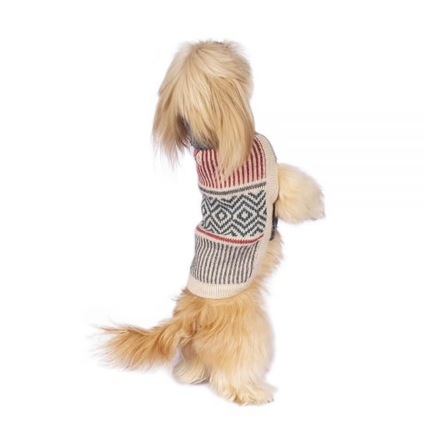 """<span style=""""font-weight: 400;"""">Subtle and modern, our Muted Strings alpaca dog sweater will keep any canine cozy and warm. Alpaca wool is lightweight and hypoallergenic, and perhaps most importantly of all, it is wonderfully soft for both you and your pet.</span> <ul> <li aria-level=""""1"""">Handcrafted from alpaca fiber blends</li> <li style=""""font-weight: 400;"""" aria-level=""""1""""><span style=""""font-weight: 400;"""">Soft</span><span style=""""font-weight: 400;""""> and warm to the touch</span></li> <li style=""""font-weight: 400;"""" aria-level=""""1""""><span style=""""font-weight: 400;"""">Not itchy & hypoallergenic</span></li> <li><span style=""""font-weight: 400;"""">Leash opening</span></li> </ul> - Model Dolores is a Miniature Poodle Size XS - Model Charlotte is a Shih Tzu Size XS - Model Mona is a Miniature Poodle Size XS - Model Kira is a Miniature Poodle Puppy Size XXS This garment has been designed thinking on the well being of your pet. [fusion_button link=""""https://alqowasi.com/wp-content/uploads/2021/03/Sizing-guide-sweater-dresses.png"""" text_transform=""""none"""" title="""""""" target=""""lightbox"""" link_attributes="""""""" alignment_medium="""""""" alignment_small="""""""" alignment="""""""" modal="""""""" hide_on_mobile=""""small-visibility,medium-visibility,large-visibility"""" sticky_display=""""normal,sticky"""" class=""""button-chart"""" id="""""""" color=""""default"""" button_gradient_top_color="""""""" button_gradient_bottom_color="""""""" button_gradient_top_color_hover="""""""" button_gradient_bottom_color_hover="""""""" accent_color="""""""" accent_hover_color="""""""" type="""""""" bevel_color="""""""" border_width="""""""" border_radius="""""""" border_color="""""""" border_hover_color="""""""" size=""""small"""" stretch=""""default"""" margin_top="""""""" margin_right="""""""" margin_bottom="""""""" margin_left="""""""" icon=""""fa-ruler fas"""" icon_position=""""left"""" icon_divider=""""no"""" animation_type="""""""" animation_direction=""""left"""" animation_speed=""""0.3"""" animation_offset=""""""""]Sizing Chart[/fusion_button]"""