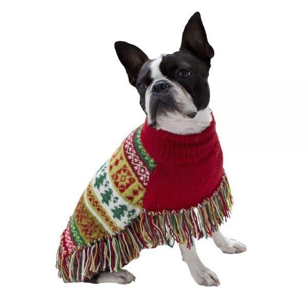 Christmas Tree Alpaca Dog Poncho