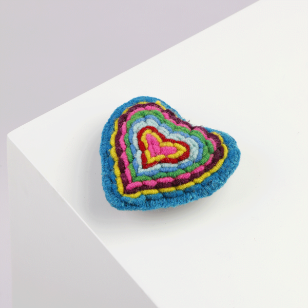 Embroidered Heart Multicolor Alqo Wasi Toy