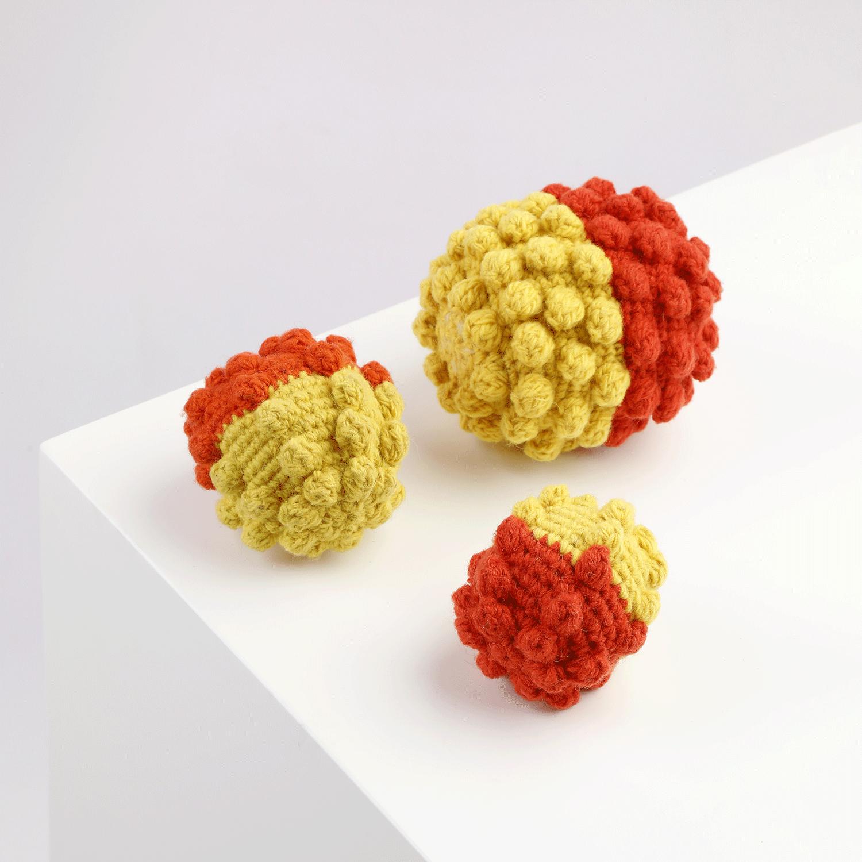 Crochet Ball Yellow-Orange Alqo Wasi Toy