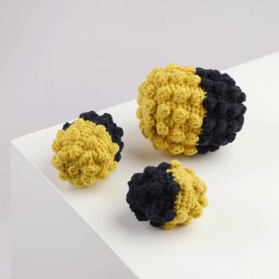 Crochet Ball Yellow-Blue Alqo Wasi Toy