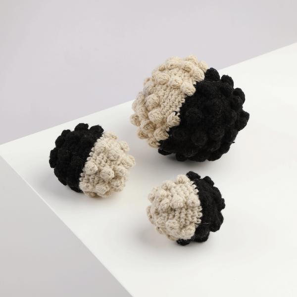 Crochet Ball Black-White Alqo Wasi Toy