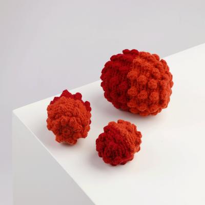 Red-Orange Crochet Ball Toy