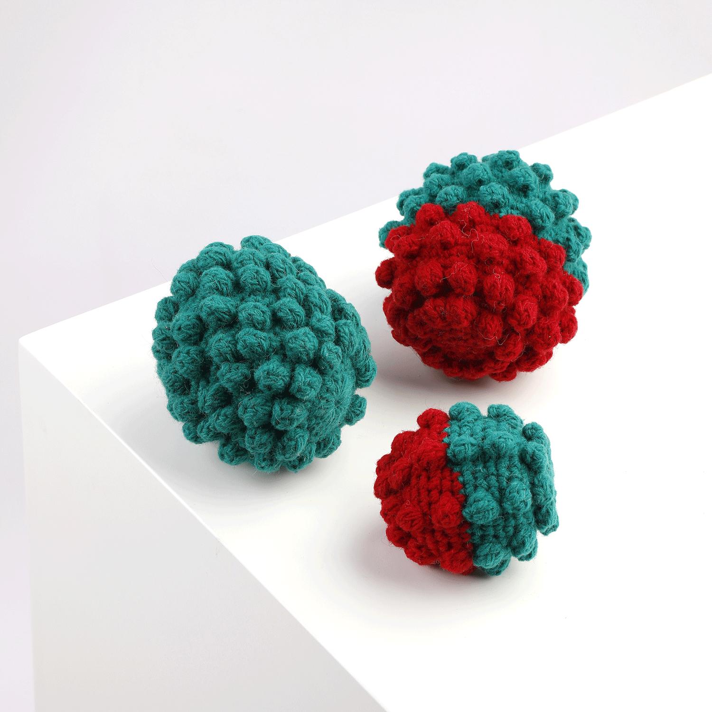 Christmas Crochet Ball Toy