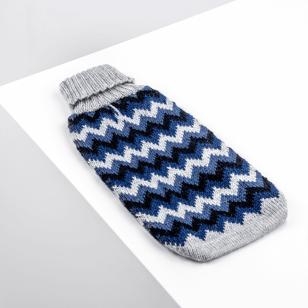 Chevron Blue-Collection 2020: Alqo Wasi alpaca sweater for dogs