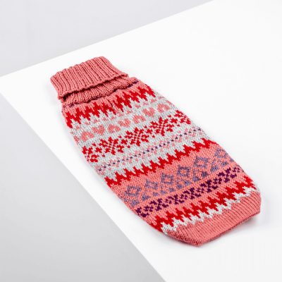 Fall Medley Pink-Collection 2020: Alqo Wasi alpaca sweater for dogs-Holiday Collection