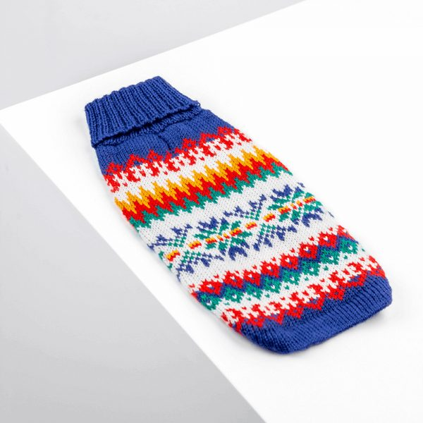 Fire on ice blue-Collection 2020: Alqo Wasi alpaca sweater for dogs-Holiday Collection