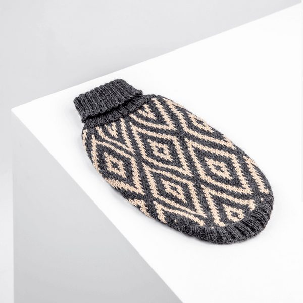 Rhombus alpaca dog sweater