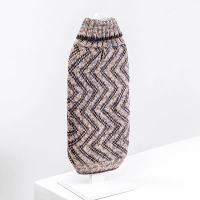 Vertical Zigzag-Collection 2020: Alqo Wasi alpaca sweater for dogs