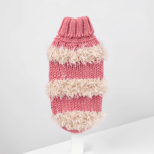 Game of bones pink-Collection 2020: Alqo Wasi alpaca sweater for dogs