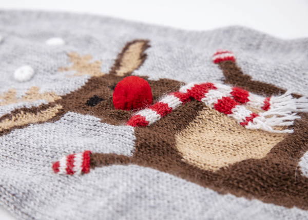 Moose Sweater: Alqo Wasi alpaca sweater for dogs-Holiday Collection