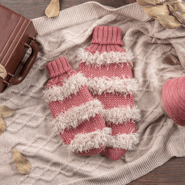 Game of bones pink-Collection 2020: Alqo Wasi alpaca sweater for dogs composition