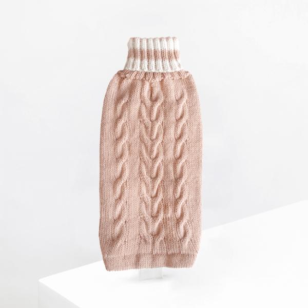 Dusty Pink Alpaca dog sweater