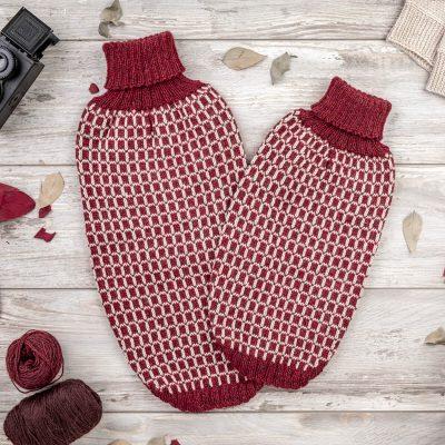 Squares Alpaca Dog Sweater