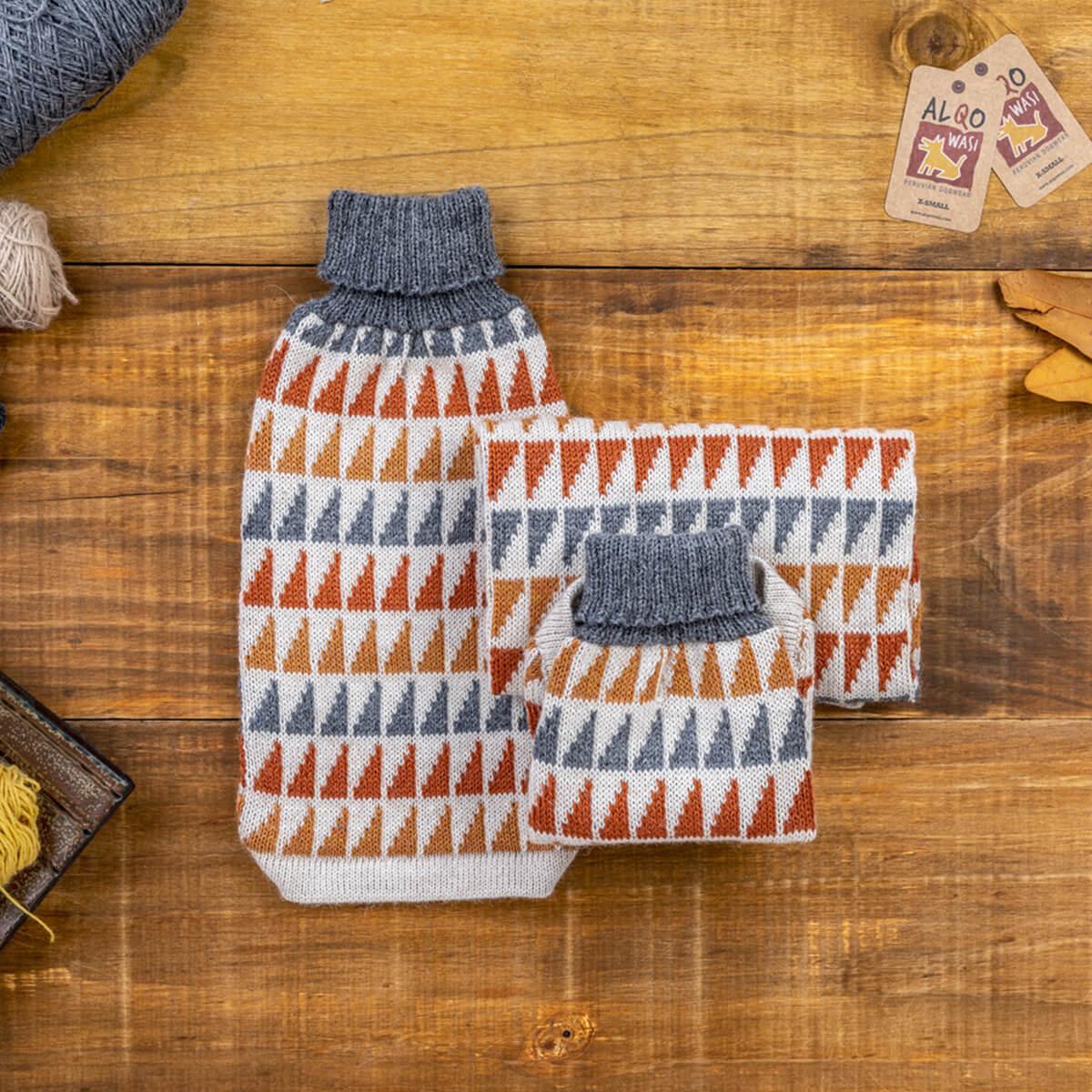 Triangle Alpaca Dog Sweater