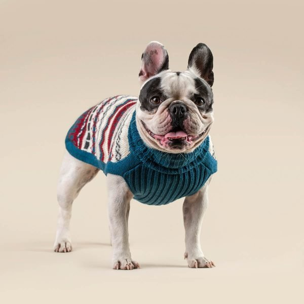"""Easy to care for, soft on your pet's skin. Two reasons why Alqo Wasi sweaters are in every conscious dog owner's wardrobe this season. <ul> <li aria-level=""""1"""">Handcrafted from alpaca fiber blends</li> <li style=""""font-weight: 400;"""" aria-level=""""1""""><span style=""""font-weight: 400;"""">Soft</span><span style=""""font-weight: 400;""""> and warm to the touch</span></li> <li style=""""font-weight: 400;"""" aria-level=""""1""""><span style=""""font-weight: 400;"""">Not itchy & hypoallergenic</span></li> <li><span style=""""font-weight: 400;"""">Leash opening</span></li> </ul> – Model Ramona is a French Bulldog Size M This garment has been designed thinking on the well-being of your pet. [fusion_button link=""""https://alqowasi.com/wp-content/uploads/2021/03/Sizing-guide-sweater-dresses.png"""" text_transform=""""none"""" title="""""""" target=""""lightbox"""" link_attributes="""""""" alignment_medium="""""""" alignment_small="""""""" alignment="""""""" modal="""""""" hide_on_mobile=""""small-visibility,medium-visibility,large-visibility"""" sticky_display=""""normal,sticky"""" class=""""button-chart"""" id="""""""" color=""""default"""" button_gradient_top_color="""""""" button_gradient_bottom_color="""""""" button_gradient_top_color_hover="""""""" button_gradient_bottom_color_hover="""""""" accent_color="""""""" accent_hover_color="""""""" type="""""""" bevel_color="""""""" border_width="""""""" border_radius="""""""" border_color="""""""" border_hover_color="""""""" size=""""small"""" stretch=""""default"""" margin_top="""""""" margin_right="""""""" margin_bottom="""""""" margin_left="""""""" icon=""""fa-ruler fas"""" icon_position=""""left"""" icon_divider=""""no"""" animation_type="""""""" animation_direction=""""left"""" animation_speed=""""0.3"""" animation_offset=""""""""]Sizing Chart[/fusion_button]  <strong>Please note that orders that placed during this week including PRE-ORDERED garments will be shipped from October 29th to November 8th, 2021. As always, we can assure you that our unique collection is worth the wait. Once your order is ready to ship, delivery time ranges from 3-5 business days worldwide with DHL.</strong>"""