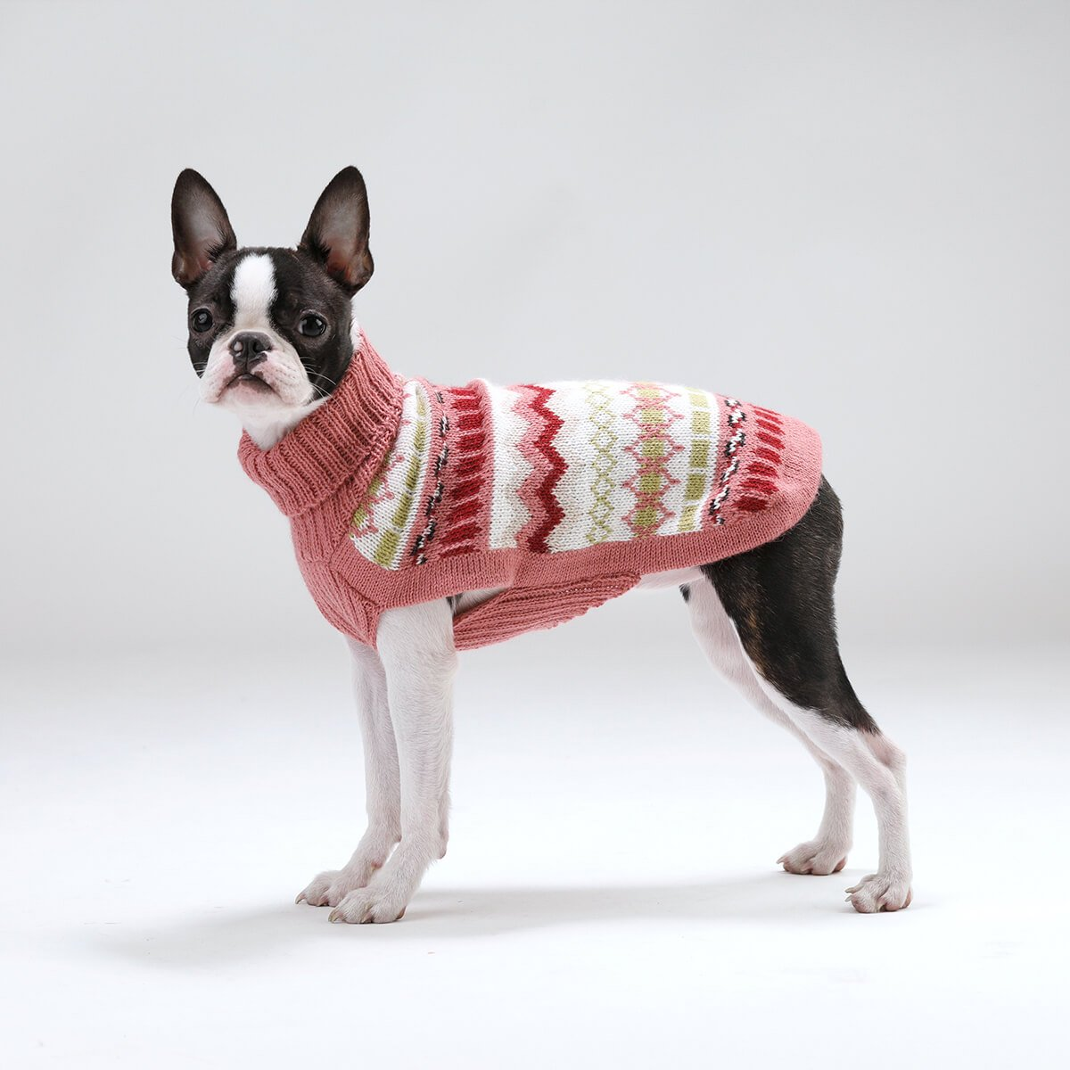 Iceberg Pink Alpaca Dog Sweater